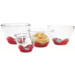 Anchor Hocking 4 Piece Splashproof Mixing Bowl Set with No-Slip Bases