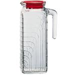 Bormioli Rocco Gelo Glass Jug with Red Lid