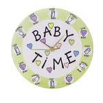 Our Name is Mud Baby Time Ceramic Nursery Wall Clock, 10 Inch