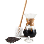 Chemex Classic 40 Ounce Glass Coffee Maker Set with Wood Collar, Cleaning Brush, and Cover
