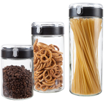 Artland Press & Seal 3 Piece Borosilicate Glass Canister Set