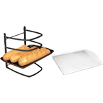 Linden Sweden Jonas Collapsible 4 Tier Cooling Rack with Aluminum Cookie Sheet, 13 x 14 Inch
