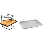 Linden Sweden Jonas Collapsible 4 Tier Cooling Rack with Aluminum Baking Sheet, 18 x 13 Inch