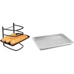 Linden Sweden Jonas Collapsible 4 Tier Cooling Rack with Aluminum Baking Sheet, 18 x 13 Inch