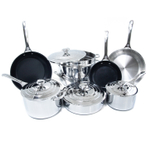 Le Creuset Tri-Ply Stainless Steel 12 Piece Cookware Set