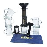 Aerobie AeroPress Coffee Maker with Tote Bag and 6 Cafe Mocha Mugs