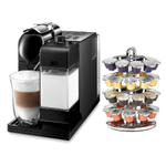Delonghi Lattissima Plus Black Capsule Espresso and Cappuccino Machine with Bonus 40 Capsule Carousel