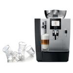 Jura Silver Impressa XJ9 Professional One-Touch Combination Espresso Machine with 6 Bodum Canteen Double Wall Espresso Glasses