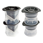 Tolovo 4 Piece Sphere and Colossal Cube Ice Mold Set