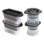 Tolovo 4 Piece Sphere and Highball Ice Mold Set
