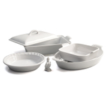 Le Creuset 6 Piece White Stoneware Heritage Bakeware Set