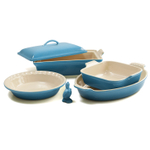 Le Creuset 6 Piece Caribbean Stoneware Heritage Bakeware Set