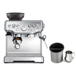 Breville Barista Express Stainless Steel Espresso Machine with Knock Box and 19 Ounce Milk Steamer Jug