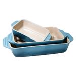 Le Creuset 3 Piece Caribbean Stoneware Rectangular Casserole Dish Set