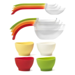 iSi Flex-It Magnetic 4-Piece Measuring Cup and Spoon Set with 4 Multi-Colored Pinch Bowls