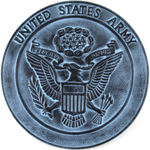 USA Military Army Heavy Aluminum Wall Plaque