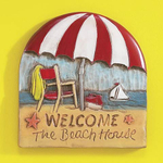 "Indoor/Outdoor Resin ""Welcome To The Beach House"" Plaque"