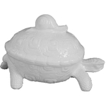 White Porcelain Turtle Keepsake Box 8 Inches