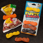 Gama-Go Flavor Savers Mustache Clips