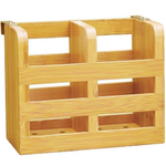 Lipper International Bamboo Flatware Rack, 6.25 Inch