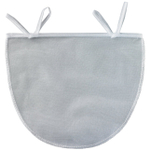 HIC Harold Import Co White Polyester Mesh Nut Milk Bag