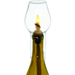 True Fabrications Hurricane Wine Bottle Lamp