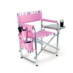 Picnic time Pink Striped Sports Chair