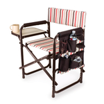 Picnic Time Pink and Tan Striped Sports Chair