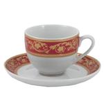 Elegant Gold Leaf Asian Espresso Demitasse Set 12 Pieces