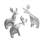 Nambe Holiday Metal Alloy Blizten Reindeer, Set of 3
