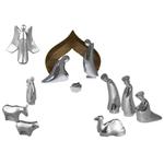 Nambe Metal Alloy 12 Piece Nativity Set
