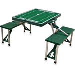 Picnic Time Michigan State Spartans Hunter Green Aluminum Portable Folding Table with Seats