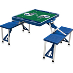 Picnic Time Blue Aluminum Tennessee Titans Portable Folding Sport Table with Seats