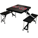 Picnic Time Black Stanford University Cardinals Portable Folding Table with Seats
