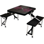 Picnic Time Texas A & M Aggies Black Portable Folding Table with Seats