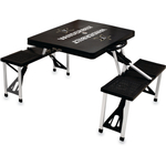 Picnic Time Vanderbilt University Commodores Black Portable Folding Table with Seats