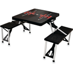 Picnic Time Texas Tech Red Raiders Black Portable Folding Table with Seats