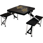 Picnic Time Wake Forest Demon Deacons Virginia Tech Hokies Portable Folding Table with Seats