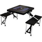 Picnic Time Texas Christian University Horned Frogs Black Portable Folding Table with Seats