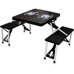 Picnic Time Black University Of Connecticut Huskies Portable Folding Table with Seats