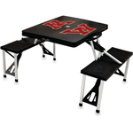 Picnic Time Black University Of Minnesota Golden Gophers Portable Folding Table with Seats