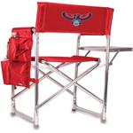Picnic Time Red Digital Print Atlanta Hawks Aluminum Sports Chair