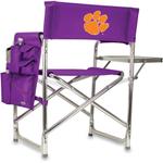 Picnic Time Purple Digital Print Clemson University Tigers Aluminum Sports Chair