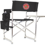 Picnic Time Black Digital Print University Of Louisiana Ragin Cajuns Aluminum Sports Chair