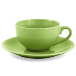 Metropolitan Tea Mojito Lime Ceramic Teacup and Saucer Set