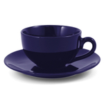 Metropolitan Tea Royal Blue Ceramic Teacup and Saucer Set