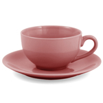 Metropolitan Tea Sierra Rose Ceramic Teacup and Saucer Set