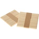 Silikomart Easy Cream Wooden Popsicle Sticks, 100 Count