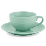 Metropolitan Tea Sea Foam Green Ceramic Teacup and Saucer Set