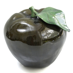 Alpine Green Ceramic Decorative Apple, 11 Inch